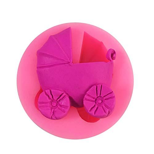Silikon-Schimmel in Kinderwagen-Form – Kuchen-Schimmel – Kinderwagen – 1