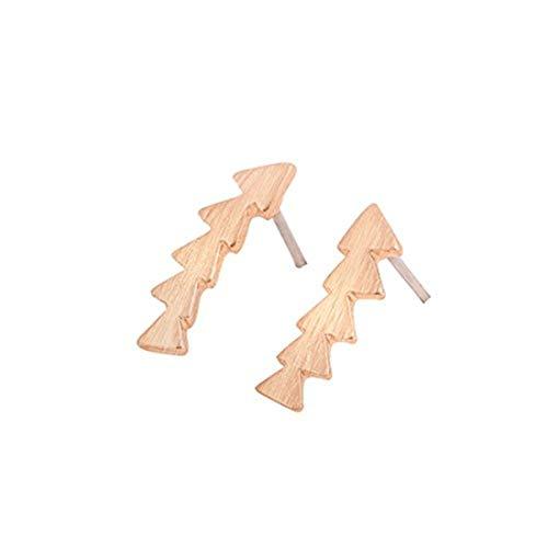 Youkeshan Minimalista Oro Plata Rosa Color Flecha Stud Pendientes Triángulos Geométricos Mujeres Joyería (Oro Rosa)