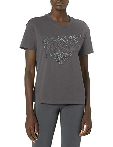 adidas womens Leo Graphic Tee Grey Small