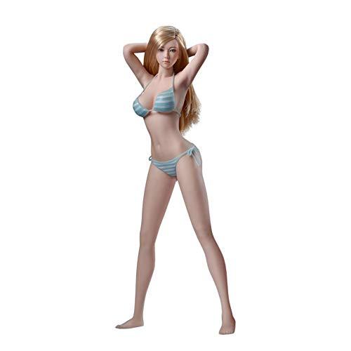 NEDTO 1/6 Female Nahtlose Actionfiguren Full Set Weicher Kleber+ Head + Underwear-1/6 Superflexible Female Dolls Für Kunst/Zeichnung/Fotografie PHMB2019-S34 Action Figure Weiblich