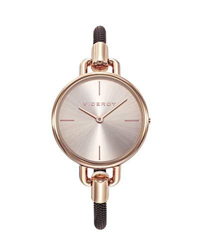Viceroy Reloj Mujer correa de acero, rosa/marrón
