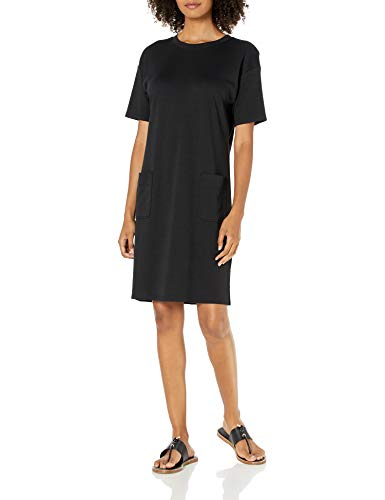 Amazon Brand – Daily Ritual Women's Pima Cotton and Modal Interlock Patch-Pocket T-Shirt Dress