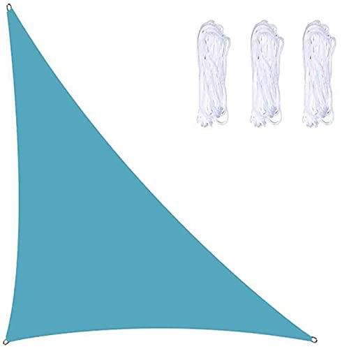 WANLN Toldo de Vela en ángulo Recto, 3mx3mx4.3m Toldo de Vela Solar con Cuerda Libre Impermeable, Bloque UV, toldo de Vela de jardín para Patio al Aire Libre, Patio Trasero, bañera de hidromasaje