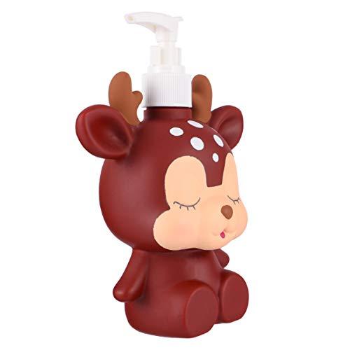 Hemoton 300 ml de botellas de dispensador de jabón con forma de reno, botellas vacías reutilizables para niños, jabón líquido, champú, dispensador, manos o cocina