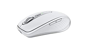 Logitech MX Anywhere 3 for Mac Compact Performance Mouse,Wireless Comfortable Ultrafast Scrolling Any Surface Portable 4000DPI Customizable Buttons USB-C Bluetooth Apple Mac iPad - Pale Grey