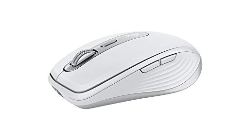 Logitech MX Anywhere 3 for Mac Compact Performance Mouse,Wireless, Comfortable, Ultrafast Scrolling, Any Surface, Portable, 4000DPI, Customizable Buttons, USB-C, Bluetooth, Apple Mac, iPad - Pale Grey