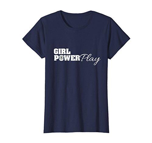 Womens Girl Power Play Womens Ice Hockey Shirt Medium Navy