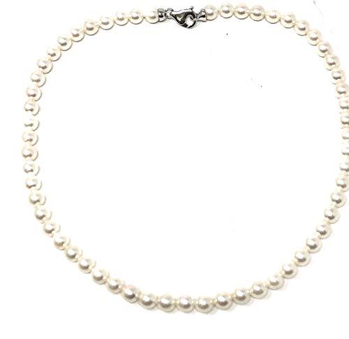 Collana di Perle giapponesi AKOYA con chiusura in Argento 925 e perle di diametro 6 1/2-7 mm