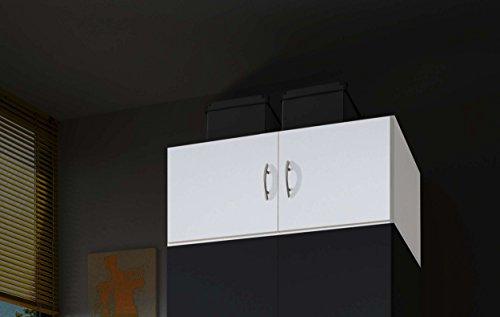AVANTI TRENDSTORE - Balu 2 e 3, Armadio Superiore, componimento per l'armadio Principale, con Ante, in 2 Diversi Colori e 2 Diverse larghezze (Bianco, con 2 Ante)