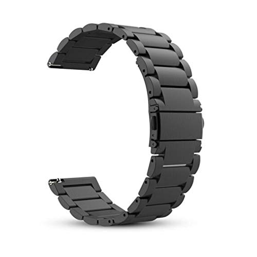 Price comparison product image Acestar Bands for Galaxy Watch 3 45mm Bands 22mm Solid Stainless Steel Strap Compatible with Samsung Galaxy Watch 3 (Black,  45mm)