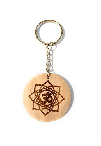 Schlüsselanhänger Holz OM Buddhismus, Holzgeschenke