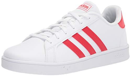 Zapatillas Adidas Grand Court para niños, (Blanco/Rojo vivo/Blanco), 30 EU