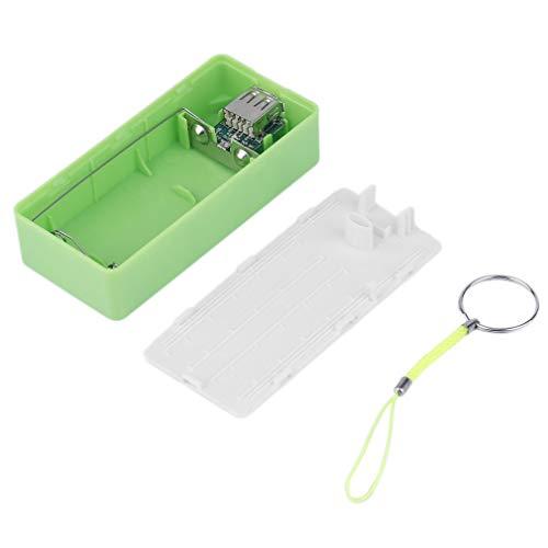 Cargador de batería de Respaldo Externo portátil con Carga USB 2 * 18650 Estuche (Verde)