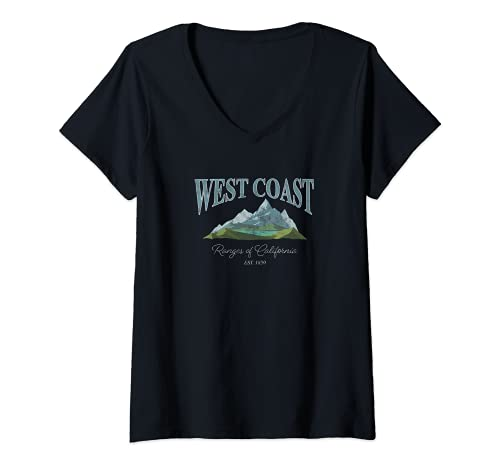 Mujer West Coast Ranges Of California Mountains Camiseta Cuello V