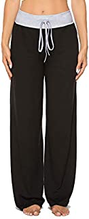 Image of Comfy Black Lounge Pajama Pants for Women - See More Colors and Prints