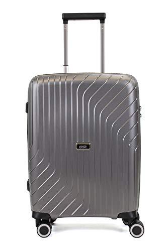 Pure - Reisekoffer Cooper 55 x 39 x 21 cm - Trolley mit 4 Rollen und TSA-Schloss - Rollenkoffer mit 39 Litern Volumen - Grau