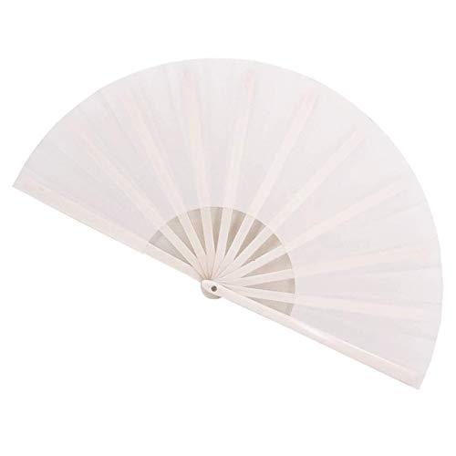 CHENMAO Fans plegables Fans de la mano de los fanáticos del fanático de las mujeres para los hombres, el abanico de bambú, el ventilador plegable de la mano para el festival de música, el rendimiento,