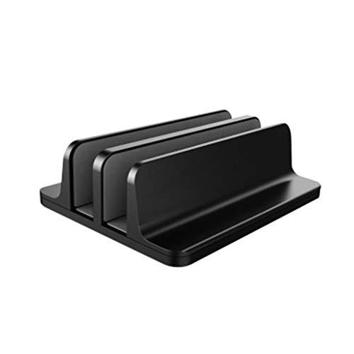 nobran Dual Storage Vertical Notebook Book Computer Aluminum Alloy Bracket Base Desktop Dual Card Position Heat Dissipation Storage Bracket
