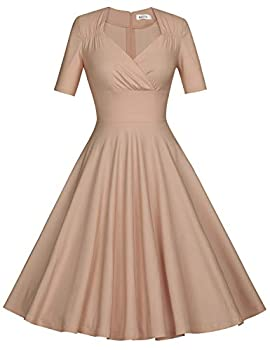 fitted flared dresses