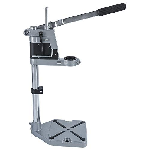Adjustable Drill Press Stand for Drill Workbench Repair Tool Universal Bench Clamp Support Tool, Drill Press Table, Drill Stand for Hand Drill Single Hole Aluminum Base (1 Mounting Hole)