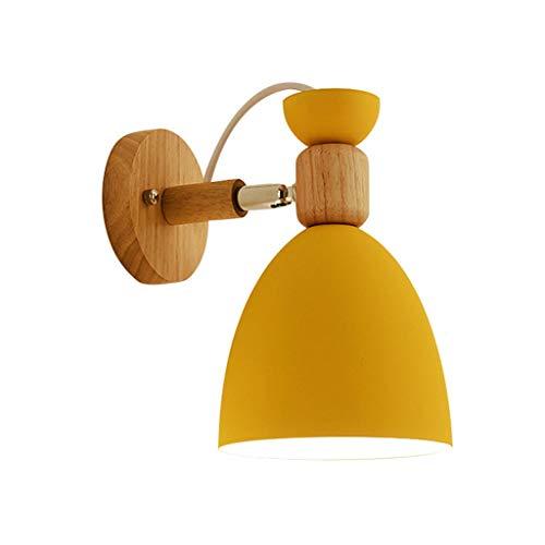 &Applique da parete del corridoio del soggiorno Lampada da parete moderna semplice Macaron, soggiorno creativo camera da letto studio corridoio sfondo muro Nordic giallo a testa singola applique &Appl
