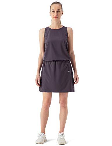NAVISKIN Damen Sommerkleid Sonnenschutz UPF50+ Outdoorkleid leichtes Funktions-Kleid ärmellos Road Dress Lila Größe L