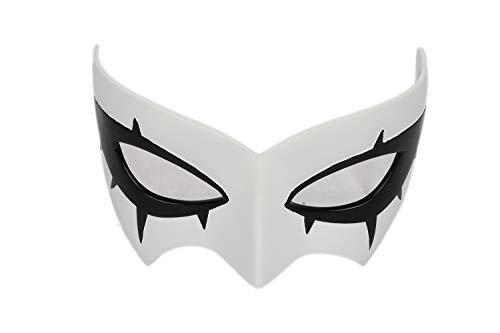 Mesky Maschera Cosplay in Resina Anime Protagonist Cosplay Costume Mask per Occhi Colore Bianco Accessorio Halloween Carnevale per Unisex Adulti