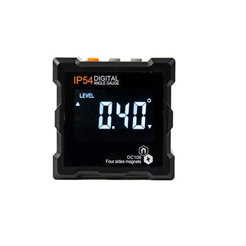 Beslands Digitaler Winkelmesser magnetisch Bevel Box Inklinometer LCD Wasserdicht Winkelmessgerät integrierte 4 Magnete Neigungsmesser