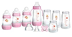Anti-Colic: Our vented base design prevents the build-up of air bubbles in your MAM bottle set, keeping your new baby's tummy settled and the drinking flow relaxed Self Sterilising: MAM baby bottles can be sterilised with 20 ml of water, a microwave,...