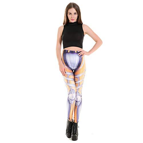 YUJIAKU Yoga broek/strak/Abdominale oefening running yoga leggings Digitale robot kleding print onderbroek