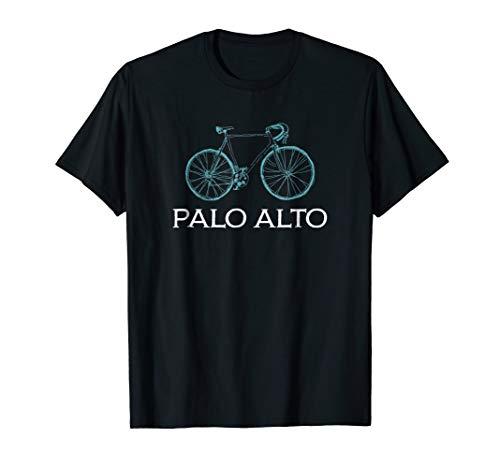 Bike Palo Alto Cycling City Bicycle T-Shirt