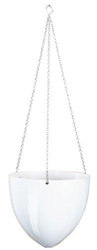 Scheurich Skyhanger, Pflanzgefäß aus Kunststoff, Bright White, 20 cm Durchmesser, 17,5 cm hoch, 2,6 l Vol.