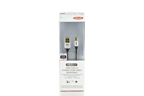 ednet USB 2.0 Anschlusskabel Typ A - Mini B St/St 10m High Speed Typ A wendbar