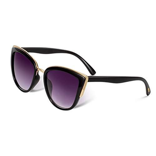 Ojo De Gato Gafas De Sol De Las Mujeres Metal De La Vendimia For Las Mujeres Gafas Espejo Retro Compras UV400 210103 (Lenses Color : C1)