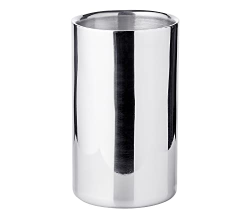 Edzard Refrigerador de Botellas Nebraska, de Acero Inoxidable, Pulido, de Doble Pared, diámetro 12 cm, Altura 20...