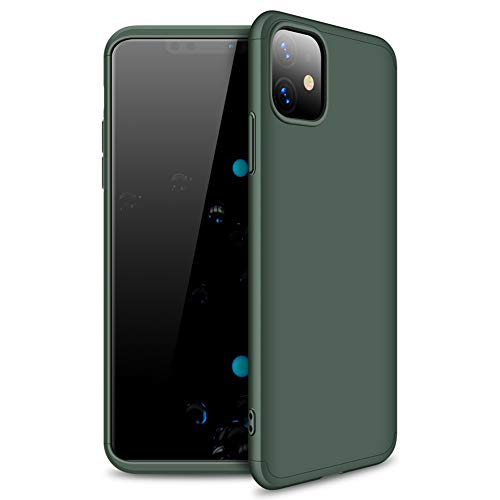 JXTech iPhone 11 Pro Case, Matte-Finish Hard PC 3 in 1 Slim Fit Anti-Fingerprint Scratch Resistant Protective Cover for iPhone 11 Green