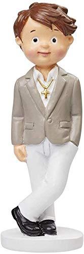 Deko-Figur Junge im Anzug Heilige Kommunion/Konfirmation Torten-Figur Kuchen-Aufsatz Tisch-Deko Dekoration Firmung Junge