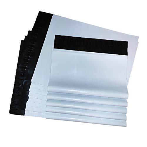 JIE 100枚 宅配ビニール袋 ネコポス対応新サイズ 23cm x 35cm A4 ホワイト 強力テープ付き 宅配袋 郵送袋 配送用 ビニールバッグ ポリ袋 梱包資材 梱包袋 防水袋 発送