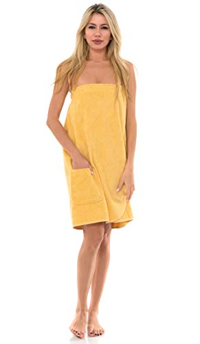 TowelSelections Damen Wickeltuch, Dusch- & Badewanne, Frottee Spa-Handtuch - Gelb - X-Small
