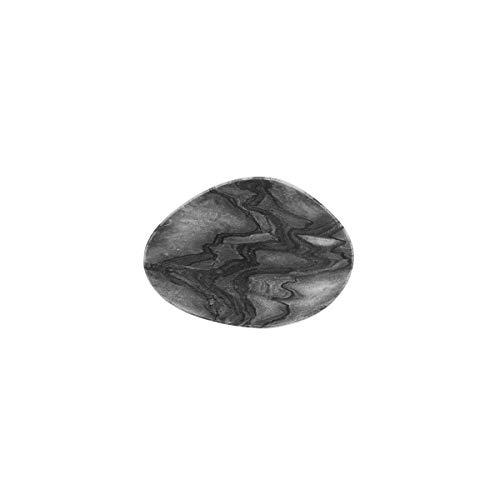 BUTLERS Marble Untersetzer 4er Set in Grau aus Marmor - Tischset aus Stein mit Marmorierung - 4 Getr?nkeuntersetzer