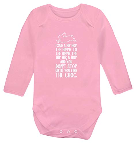 Flox Creative Langarm-Babyweste Don\'t Stop Until You Find The Choc Gr. 56, hellrosa