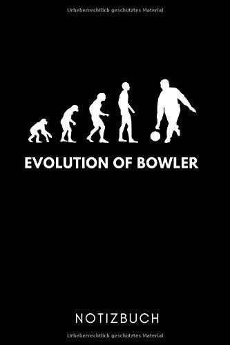 EVOLUTION OF BOWLER NOTIZBUCH: A5 TAGEBUCH Geschenk für Bowlingspieler | Bowlingbuch | Kegeln | Bowling | Kegelspiel | Mannschaft | Bowlingfan | Bowler | Sport | Männer