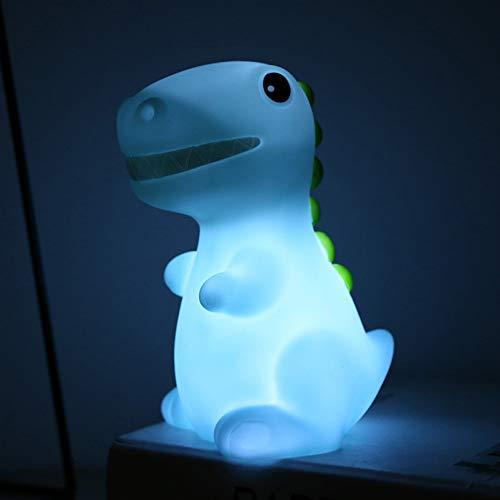 XHSHLID LED Dinosaurier Tier weiches Nachtlicht kleines Nachtlicht Baby Kinder Lampe Dekoration Wohnkultur niedlich Bunt Einrichtung Elektronik