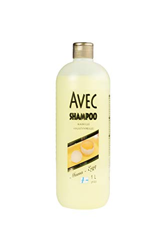 Avec 1L Shampoo all'uovo per capelli danneggiati con tuorlo d'uovo e pantenolo originale dalla Finlandia