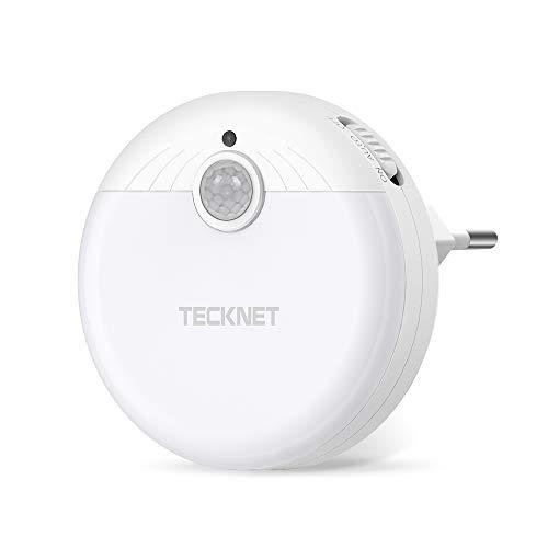 TECKNET Luce Notturna da Presa, LED Luce Notte Bambini con Sensore Automatico a Risparmio Energetico, per Stanza dei Bambini, Camera da Letto, Bagno, Corridoio, Armadio [Energy Efficiency Class A ++]
