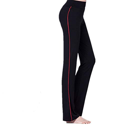 WY1688 Loose Yoga Pants Training Pants Jogging Fitness Pants Comfortable Fabric Loose Straight Lounge Running Workout Pants Active Leisure Jogging Pants J-Red 3XL