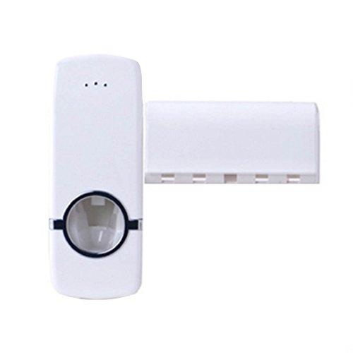 Luwu-Store Automatischer Zahnpasta-Spender, inklusive kompatiblem Zahnbürstenhalter, zur Wandmontage, fürs Badezimmer