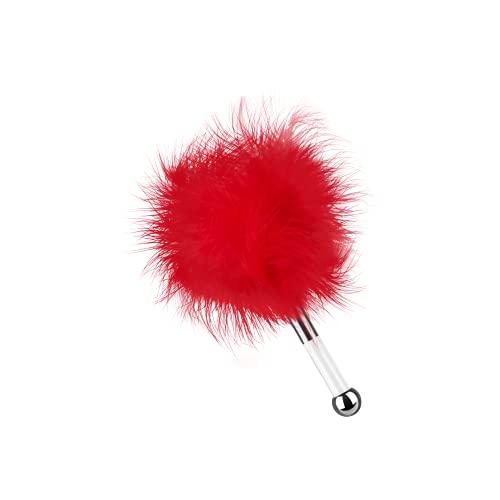 EIS, Deluxe Federkitzler 'Love me tender', für zärtliche Streicheleinheiten, Farbe:Rot
