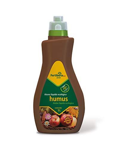 Fertiberia Abono líquido Humus 1 litro Fertilizante ecológico, Solución de Color marrón