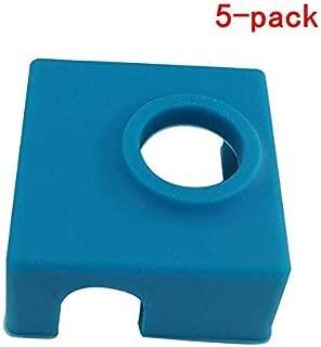 POLISI 5X 3Dプリンターヒートブロックのシリコーンの靴下MK7 MK8 MK9 Hotendの暖房のブロックカバー Makerbot Creality CR-10ミニS4、S5エンダー3アネットA8テボトルネード用 ブルー